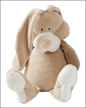 Wooly organic soft toy (bunny)