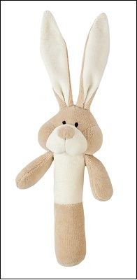 Wooly soft toy rattle (bunny)