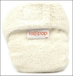Lollipop bamboo nappy (natural)