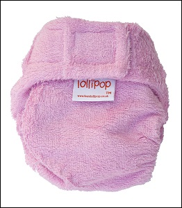 Lollipop bamboo nappy (pink)