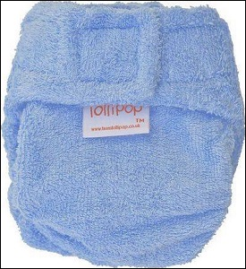 Lollipop bamboo nappy (blue)