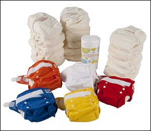 Lollipop bamboo nappy set (16-35 lbs)