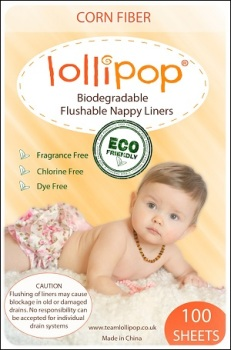 Lollipop flushable nappy liners