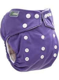 Little Lamb Onesize Pocket Nappy (Grape)