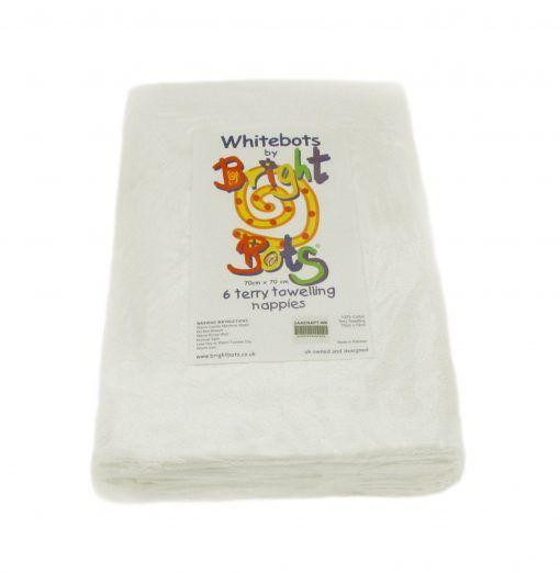 Whitebots 6 pack Terry Squares 70cmx70cm