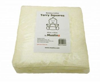 MuslinZ 12 Pack Bamboo Cotton Terry Squares 60x60cm