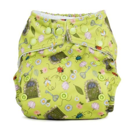 Baba and Boo One Size Pocket Nappy (Secret Gardens)