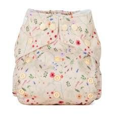 Baba and Boo One Size Pocket Nappy (Wildflowers)