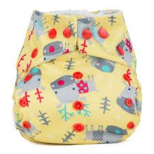 Baba and boo One Size Pocket Nappy (Reindeer)