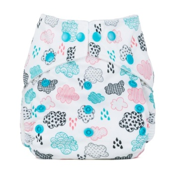 Baba +Boo One Size Pocket Nappy (Rainy Days)