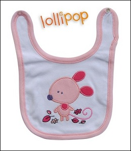 Little mouse bib_pink