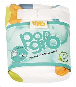 PopNGro pocket nappy (size 1; spot)