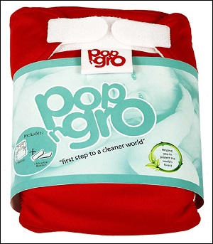 PopNGro pocket nappy (size 1; poppy red)