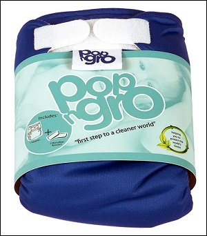 PopNGro pocket nappy (size 1; palace blue)