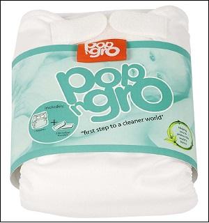 PopNGro pocket nappy (size 2; white)