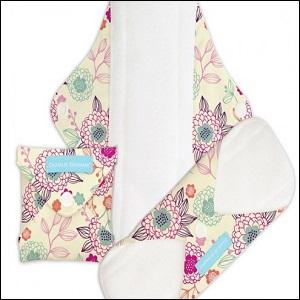 Charlie Banana menstrual pads (peony blossom)