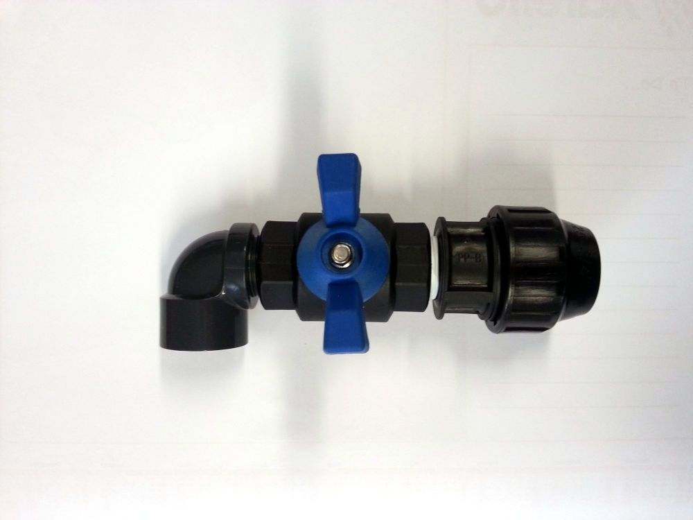 Trough Shut off valve