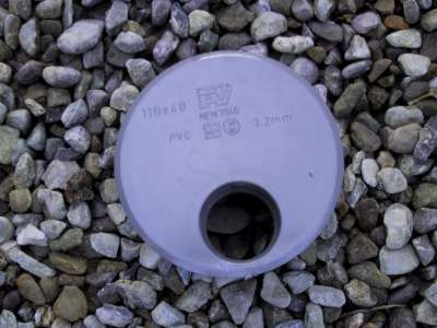 110 x 40 adaptor grey PVC