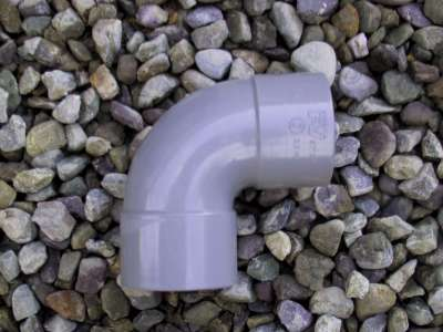 Bend 90 degrees40mm  PVC Waste fitting grey