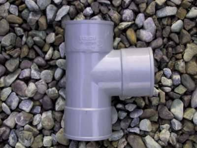 Branch 90 degrees tee 40mm  PVC Waste fitting grey