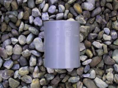 Coupler 50mm PVC waste grey