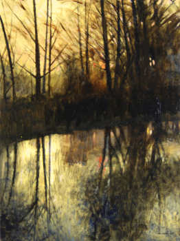 Needham Reach at Dusk 80x65cm