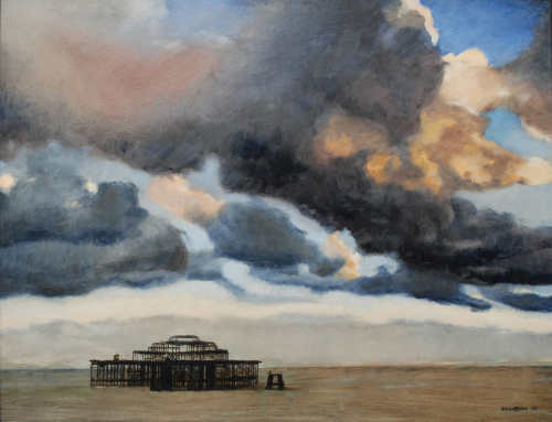 Sunset over the West Pier 72 x 91.5cm