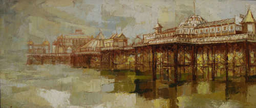 The Palace Pier Brighton.56 x 140cm