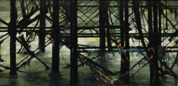 Under the Pier XIII 30.5x 61cm