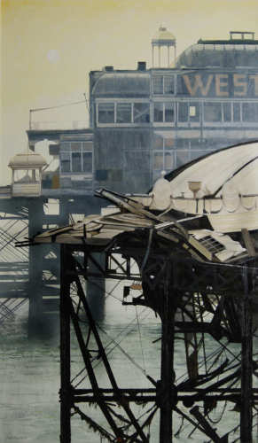 Wrecked West Pier XIII 89.5 x 53cm