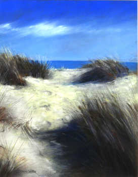 David Green Footsteps in the Sand 42 x 32cm