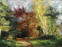 David Green Autumn Walk 22 x 32cm