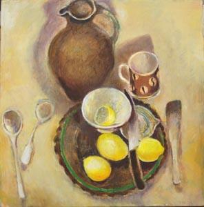 Cutting Lemons 50 x 50 cm
