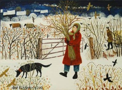 Woodmans Gold  Dee Nickerson  13 x 16cm