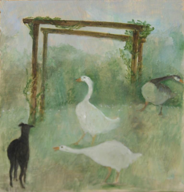 Pecking order. 18 x 18 cm  jpg