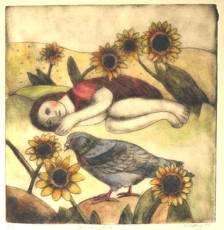 Quietly Sleeping Nicola Slattery 29cm x 28cm