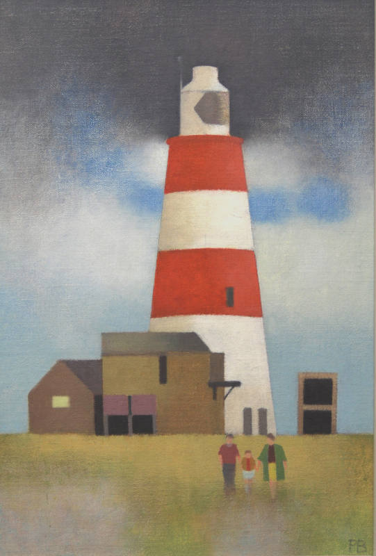 Family Group at Orfordness  40 x 28cm