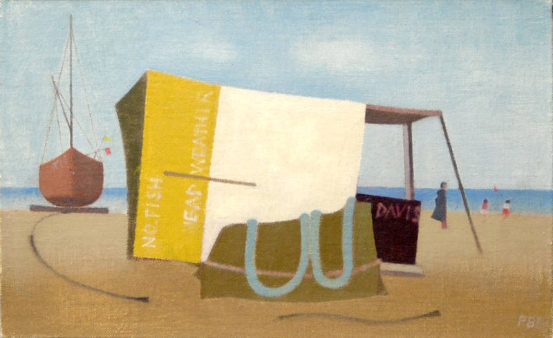 Fishing Shed with Boat  17 x 27cm