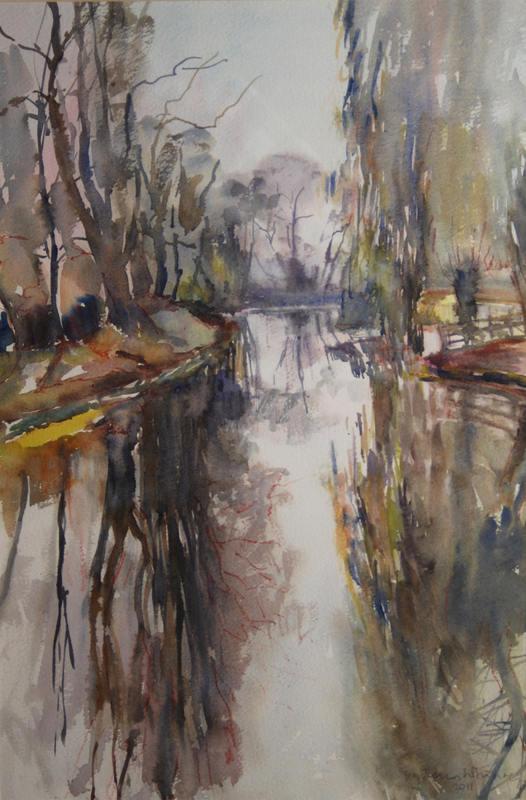 Vanessa Whinney  Waveney in Winter  53 x 35 cm