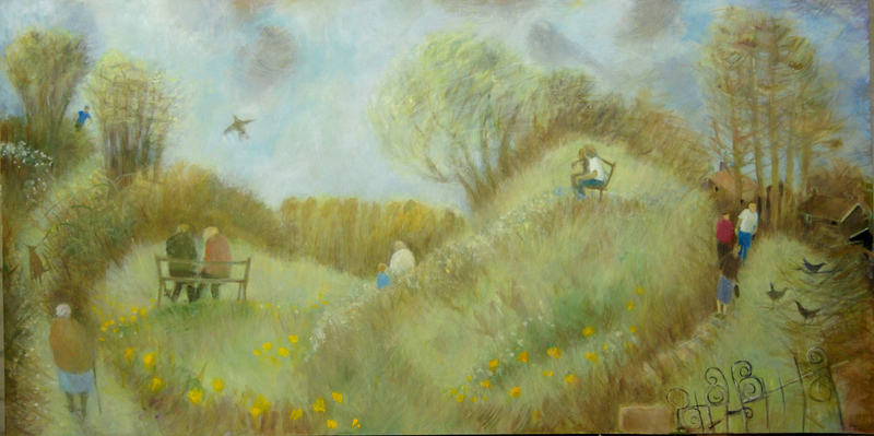 Tessa Newcomb  Spring is in the Air Castle Hills  38 x 76cm