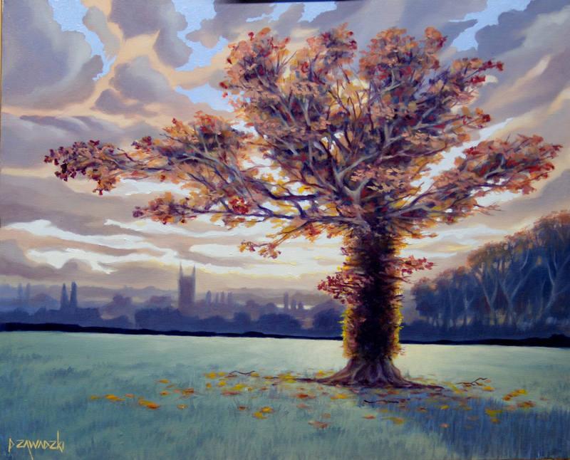 Paul Zawadski  Autumn over the Waveney Valley  40 x 50cm