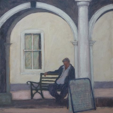 Delia Tournay-Godfrey Siesta Oil on board 29x29cm