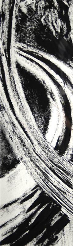 Jacqui Petrie  River Bend IV. 52 x 16 cm