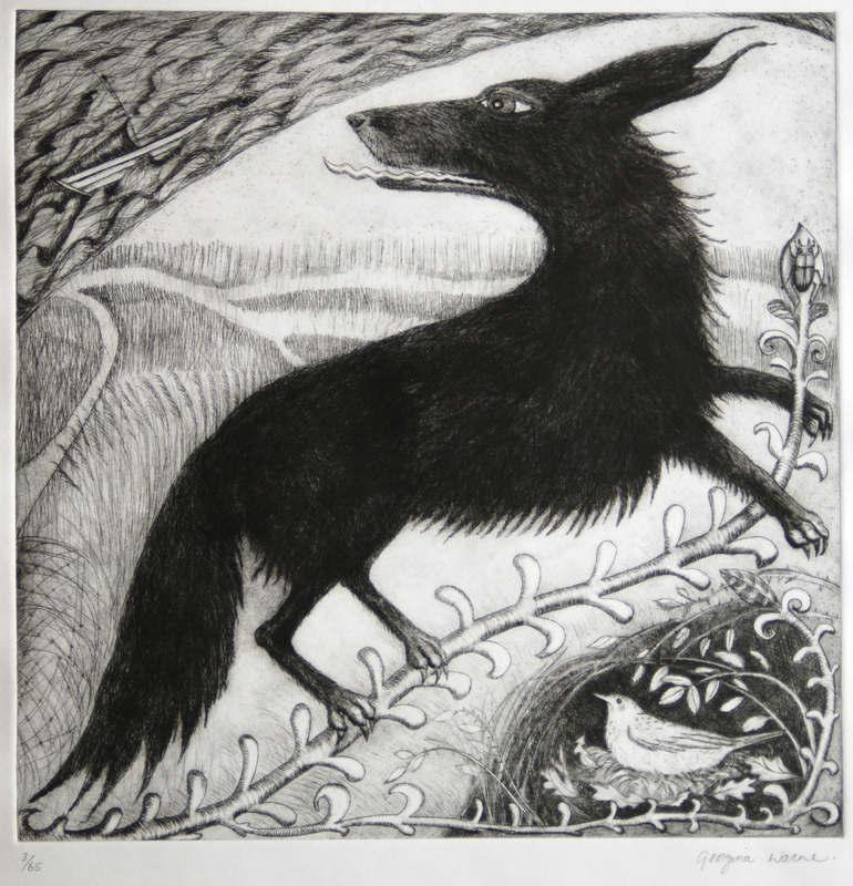Georgina Warne  Black Shuck  35 x 35cm