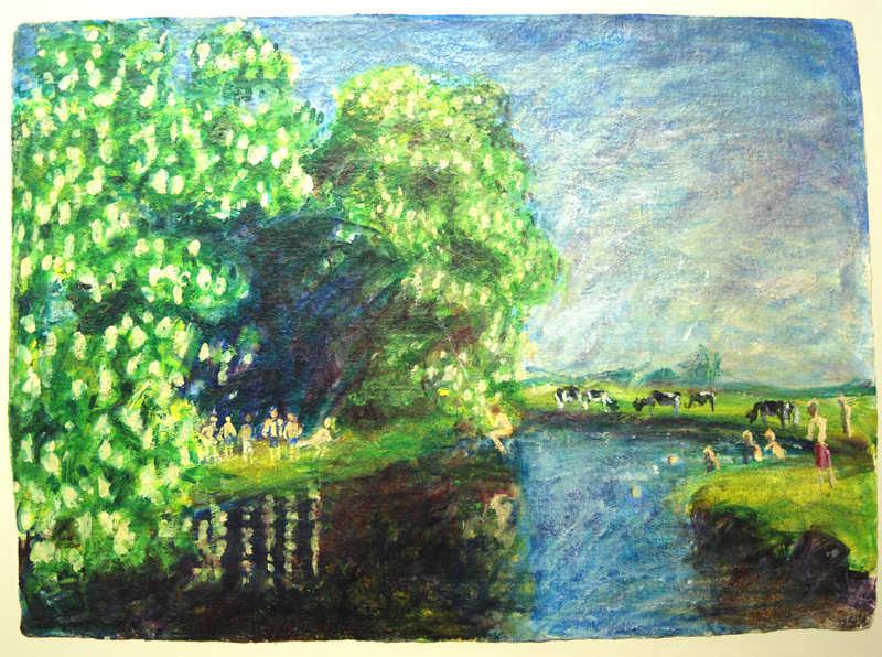 Julie Giles  Study Leave  57 x 77cm