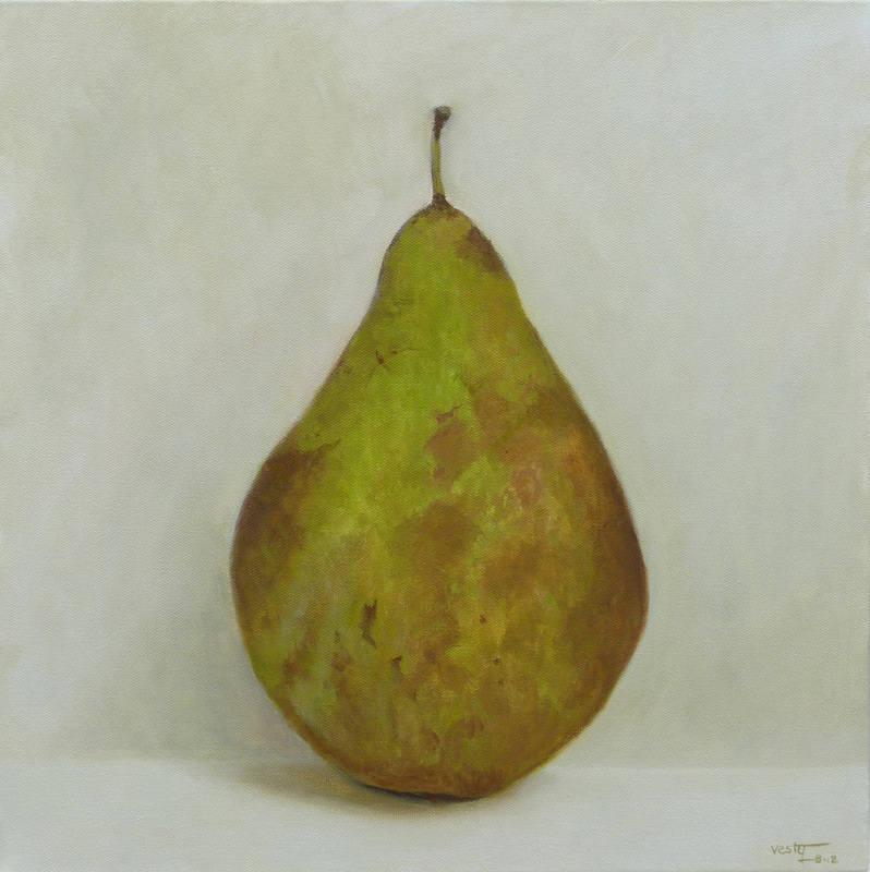 Pear 2012 oil 40x40cm