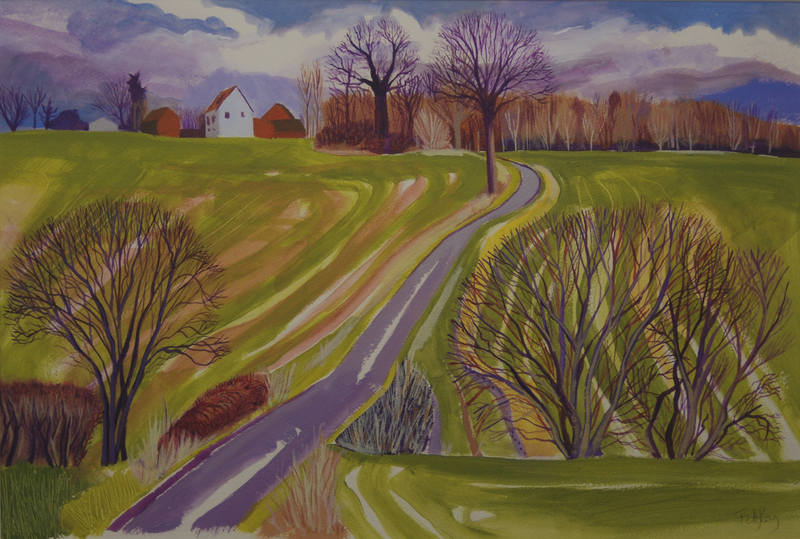 Towards ToftMonks  Cornelia FitzRoy  38x55cm