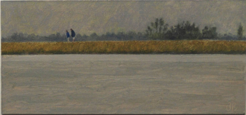 Footpath by the River 11.5 x 24.5cm