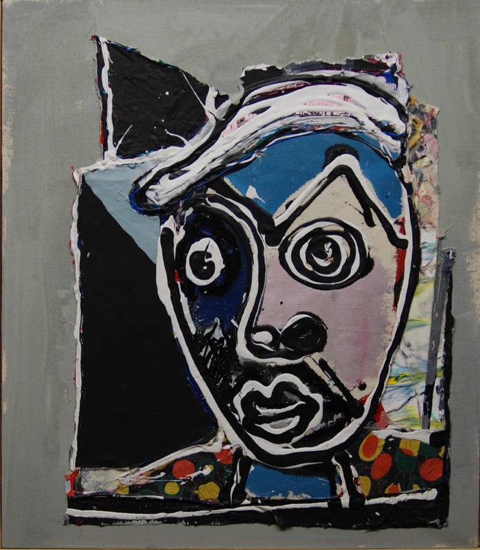 Head by John Kiki 59 x 51cm
