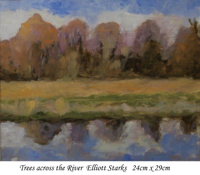 Trees across river